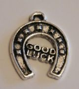 Good Luck Horseshoe Personalised Wine Glass Charm - Full Bead Style